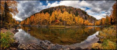 Золотая Река Кумир #1 Алтай Осень Кумир Река Вода Горы Каньон Золото