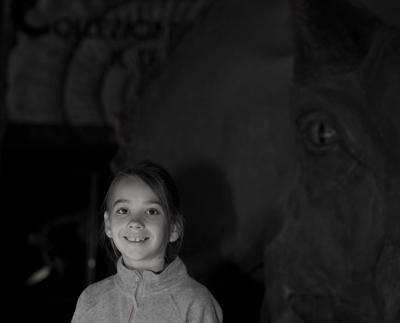 Девочка и динозавр Девочка динозавр