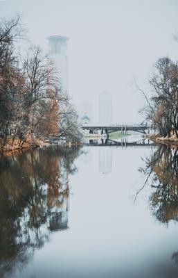 в осенней тишине... город осень природа красота Россия