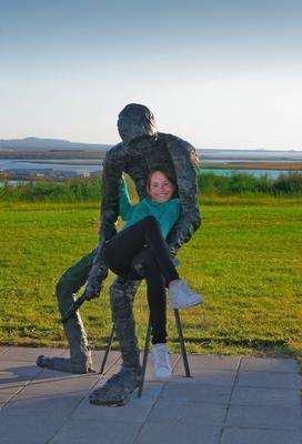 Кресло исландия путешествие жанр человек скульптура