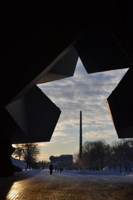 Вход в брестскую крепость бресткаякрепость дорогажизни зима эффектжизни спасибозасветлоенебо