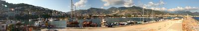 Порт Алания Алания, Турция, Порт, Яхты, Горы, Море