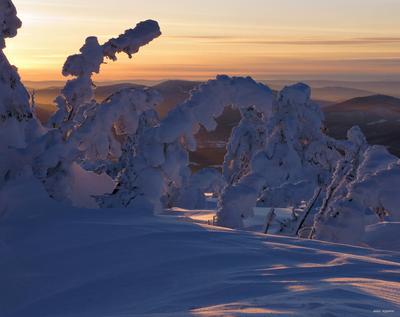 Сибирская сказка сибирь горная шория шерегеш горы зима снег солнце