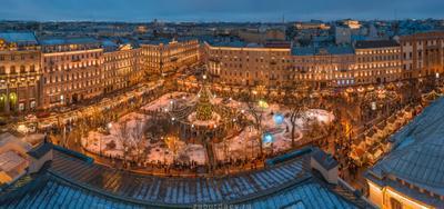 Манежная площадь россия петербург зима новый год