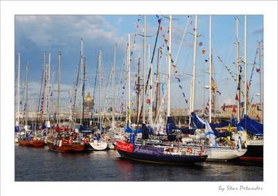 The Tall Ships' Races 2009 Baltic лодка нева питер яхта шхуна балтика небо паруса фрегата гонка серия
