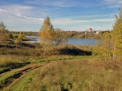 Озеро под Растуново. Озеро, осень, вода, Растуново, каширское шоссе