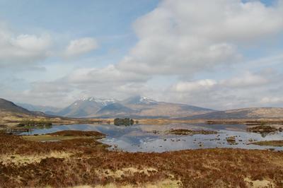 Весна в Шотландии озеро горы Западная_Шотландия Highlands Scotland