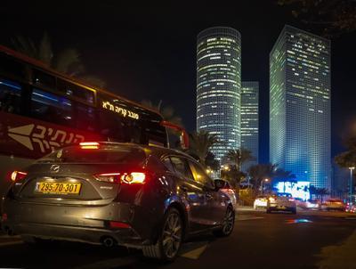 Вечерний Тель-Авив Тель-Авив Башни Азриэли