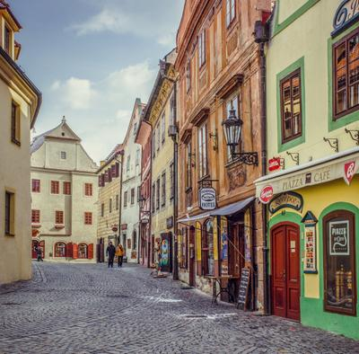 "Улица ""Siroka"" чешский крумлов чехия город travel europe европа krumlov"