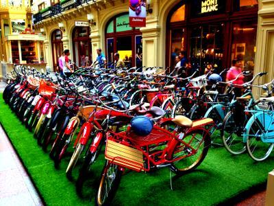 Велосипеды в ГУМе