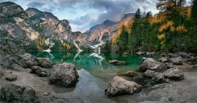 """""""Tales of Dolomites - Lago di Braies"""" Italy Dolomites Lago di Braies"""