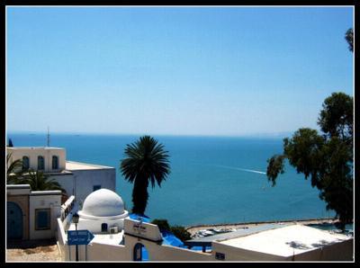Sidi-Bou-Said Тунис, Средиземное море
