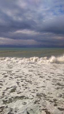 Утро Утро море тучи