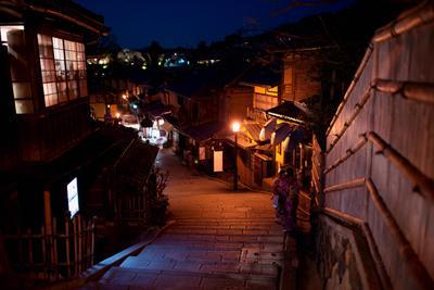 Улочка в Киото Киото гейша Япония