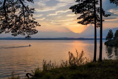 Еще один закат на Иртяше озеро Иртяш закат