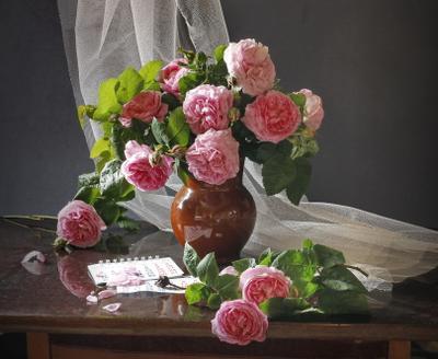 Чайные розы Натюрморт розы цвет контраст композиция