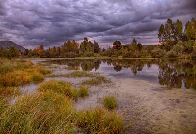 Осенняя история Пейзаж лето Сибирь красивые места отражение