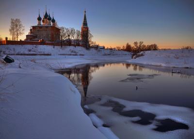 Дунилово. Рассвет на Крещение Дунилово Крещение православие храм