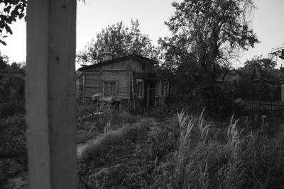Старый дом. дом черно-белое дача