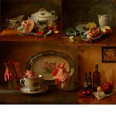 По волне моей памяти(из архива)...Приготовление ужина.. натюрморт пища посуда ужин