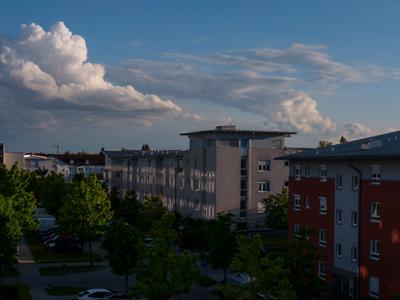 Вечер над крышами....