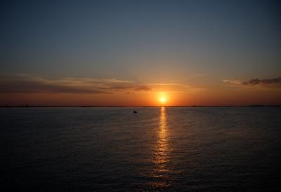 Закат на Северной Двине.