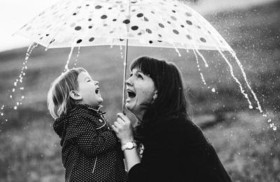 дождик дети люди эмоции портрет