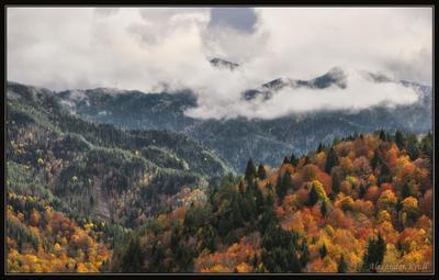 Непогода в осенних горах... Кавказ, КЧР, горы, осень