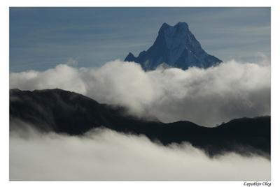 В облаках... Аннапурна Гималаи Machapuchare облака