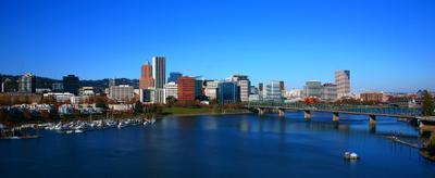 Вид на деловуючасть города. Portland.Oregon