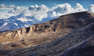 Камчатка. Вид на Мутновский. Камчатка вулкан Горелый Мутновский