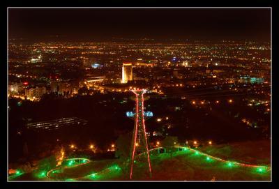 Ночной город Алматы 2 Ночь Алматы горки АДРЕНАЛИН