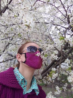Весна 2020 карантин штраф весна цветы маска работа