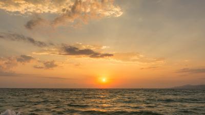 *** лето пейзаж закат море солнце облака