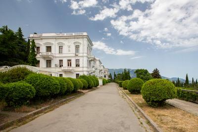 Ливадийский дворец Ливадия Крым Ливадийский дворец путешествие небо облака travel sky Crimea