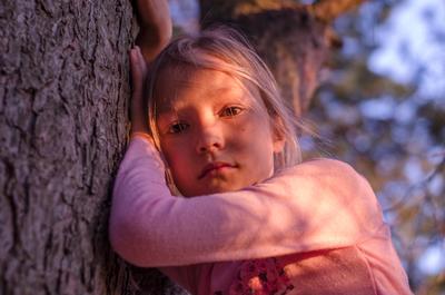 Девичьи грёзы... девочка лес