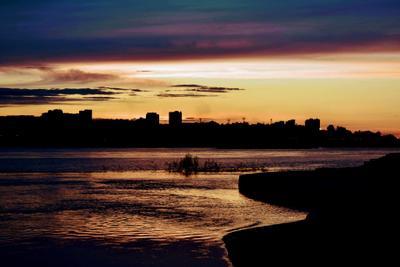 Закат город sunset