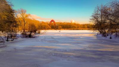 Февральский день... Живописный мост Бездонное озеро Серебряный Бор февраль HUAWEI P20 Pro