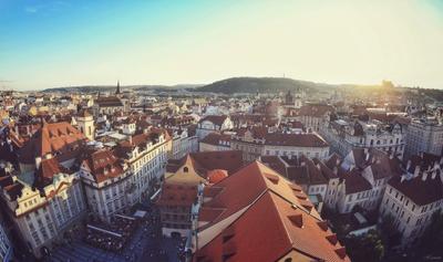 Prague in Прага Чехия Prague Check Republic красные крыши