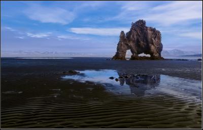 Hvitserkur он же Слон Исландия