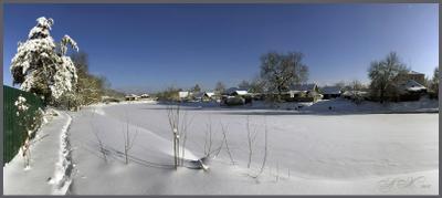 У реки ... У реки Снег 06.02.18 Река Судогда Солнце.Панорама.Сосна.Заречная