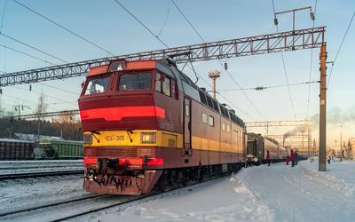 ЧС4Т-305 ЧС4Т-305 сев сжд галич станция поезд транспорт транссиб