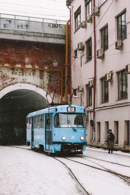 Трамвай Трамвай Москва город улица