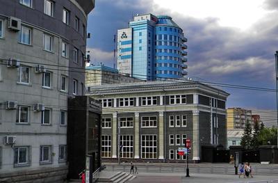 Челябинск. Вид на здание Банка России город Челябинск здание.банка