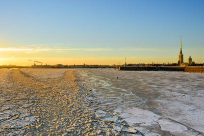 Нева... санкт петербург нева закат снег лед зима зимний александр алексеев