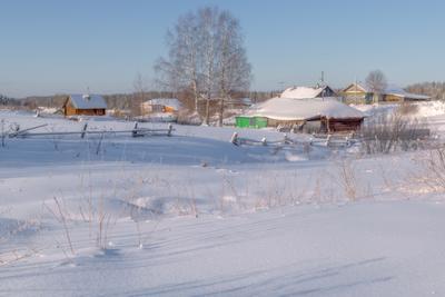 Зима в деревеньке II зима сырьяны вятка