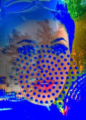 Точечное отражение отражение портрет модель точка
