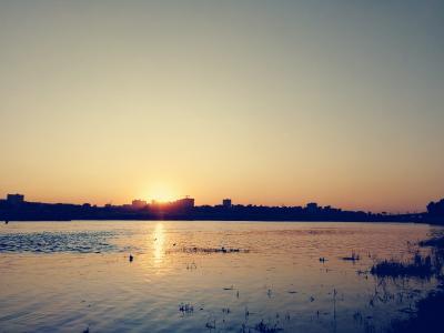 Закат город sunset city
