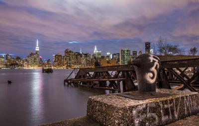 Другой Нью-Йорк Нью Йорк Манхеттен Ночное фото Другой NYC D3Foto