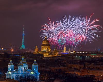 ДЕНЬ СНЯТИЯ БЛОКАДЫ ЛЕНИНГРАДА... ПРАЗДНИЧНЫЙ САЛЮТ... Санкт- Петербург салют праздник 27 января
